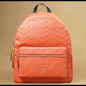 Coach signature red backpack